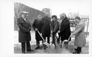Central Artery/Third Harbor Tunnel groundbreaking ceremony, group with shovels