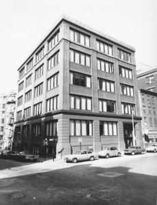 Exterior of Suffolk University's Fenton Building (32 Derne Street)