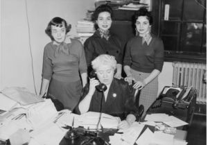 Members of Suffolk University's Bursar's Office staff
