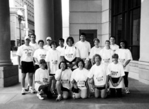 Participants gather for Suffolk University's Corporate Challege Walk