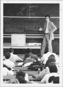 Suffolk University Law School Bernard V. Keenan (Law) lecturing in a classroom