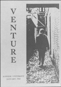 Front cover of a Suffolk University literary magazine, Venture , 1968