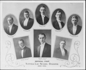 Editorial Staff of the Suffolk University Law School Register magazine, 1920-1921