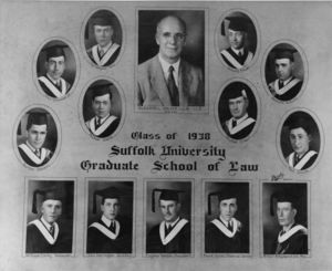 Members of the Suffolk University Law School Class (graduate school program) of 1938