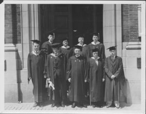 Suffolk University faculty at the first Baccalaureate exercises, 6/13/1937