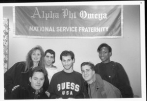 Members of Suffolk University's Alpha Phi Omega National Service fraternity, 1994