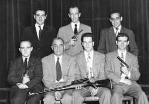Members of Suffolk University's Rifle and Pistol Club, 1949