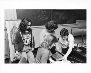 Suffolk University Professor Beatrice L. Snow (CAS Biology) with students in classroom
