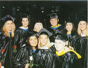 Suffolk University Commencement 2000, group of students