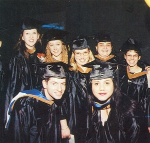 Graduates at the 2000 Suffolk University commencement