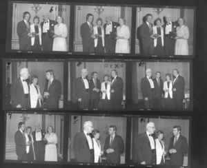 Contact sheet from the 1979 Law Day Dinner Event, featuring Suffolk University Professor Catherine T. Judge (Law)