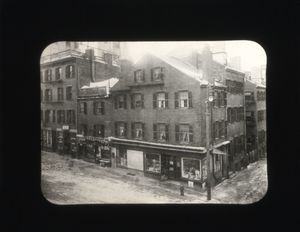 Early view of the site of the Suffolk University's Archer Building (20 Derne)