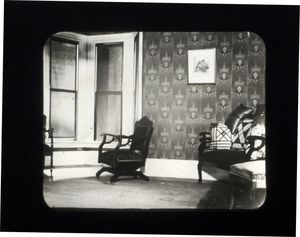 Living room where Suffolk University founder, Gleason L. Archer, taught his first law classes in Roxbury, MA