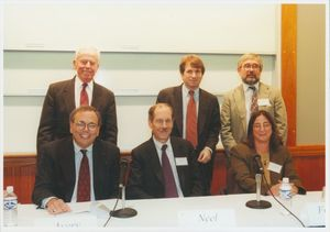 Panelists from a Suffolk University Law School conference on DNA Evidence sponsored by Advanced Legal Studies