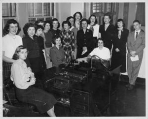 Members of Suffolk University's clerical staff, 1940s
