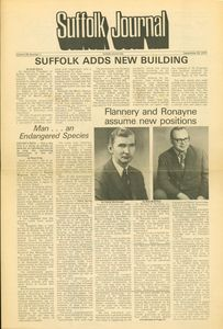 Suffolk Journal article announcing new position for Francis X. Flannery