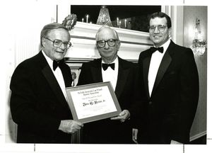 Suffolk University Professor John E. Fenton, Jr. (Law) receives a Special Recognition Award at the annual Alumni Dinner