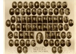 1921 Suffolk University Law School class