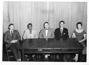 Members of Suffolk University's Business Club, 1956