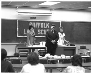Guest speaker at a Suffolk University Law School Forum