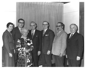 Attendees at a Suffolk University event