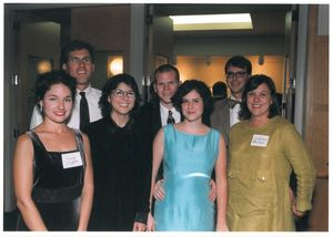 Nancy Profera, Gretchen McClure, and others at a Suffolk University Law School event