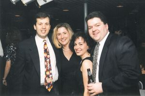 Attendees at Suffolk University Law School's 1995 Commencement Ball at Rowes Wharf