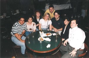 Attendees at a Suffolk University Law School outing at Jillian's