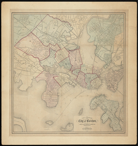 A New & Complete Map of the City of Boston, with part of Charlestown, Cambridge, Brookline, Dorchester &c.
