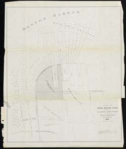Plan of South Boston Flats Showing Location of Sea Walls and Area of Excavations and Filling