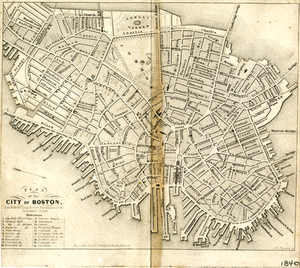 Plan of the City of Boston.