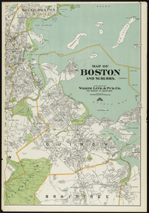 Map of Boston and Suburbs - Digital Commonwealth