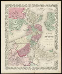 Colton's Map of Boston and Adjacent Cities.