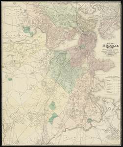 Map of Boston, for 1875.
