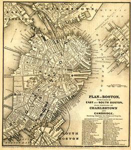 Plan of Boston With Parts of East and South Boston, Also Portions of Charlestown and Cambridge.