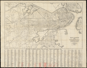 Map of Boston, 1875, After the Latest Surveys, with All the Improvements in Progress. A Complete Guide to Strangers.
