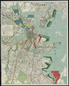 Map to Accompany Report of State Board on Docks and Terminal Facilities: Showing Existing Conditions and Proposed Changes at the Port of Boston