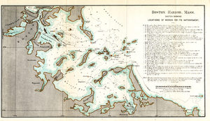 Boston Harbor, Mass.: Sketch Showing Locations of Works For Its Improvement.