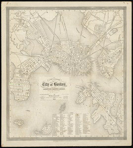 A New & Complete Map of the City of Boston with Part of Charlestown, Cambridge and Roxbury.