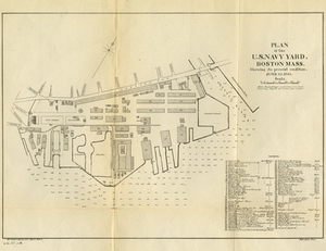 Plan of the U.S. Navy Yard, Boston, Mass. Showing It's Present Condition, June 10, 1883