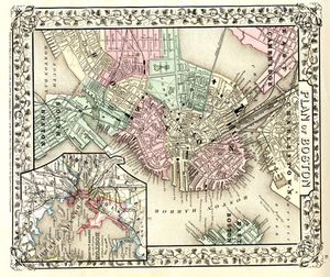 Plan of Boston.