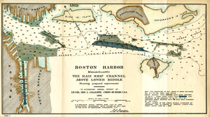 Boston Harbor, Massachusetts: The Main Ship Channel Above Lower Middle