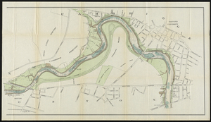 Charles River Basin: contour map of lower basin