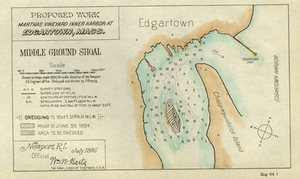 Proposed Work, Martha's Vineyard Inner Harbor at Edgartown, Mass.: Middle Ground Shoal