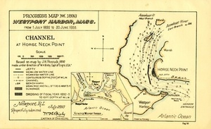 Progress Map for 1893, Westport Harbor, Mass.: From 1. July 1892 to 30. June 1893.