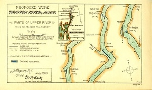 Proposed Work, Taunton River, Mass.: Parts of Upper River