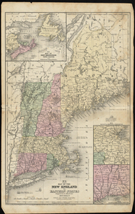 Map of the New England or Eastern States: Engraved to Illustrate Mitchell's School and Family Geography
