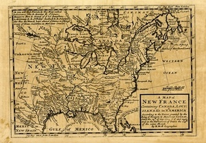 A Map of New France Containing Canada, Louisiana & c. in Nth. America.