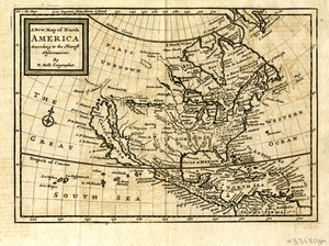 A New Map of North America According to the Newest Observations By H. Moll, Geographer.