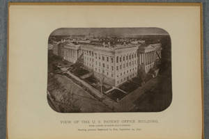 [Halftones from photographs of the U.S. Patent Office Building in An account of the destruction by fire of the north and west halls of the model room in the United States Patent Office Building, on the 24th of September, 1877]